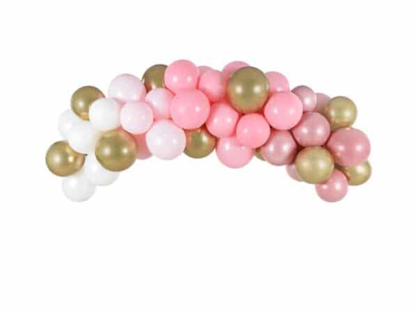 ballonnen boog roze