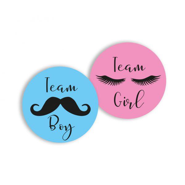 Stickers (16 st.) - Team Boy en Team Girl