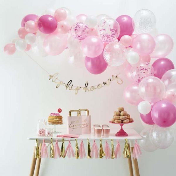 Ballonnenboog kit roze (70 stuks)