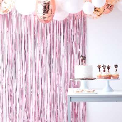 Gender Reveal - Backdrop, feestgordijn roze