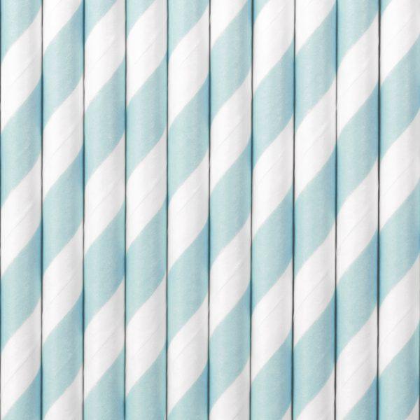 Gender Reveal - Papieren rietjes blauw (10 st.)