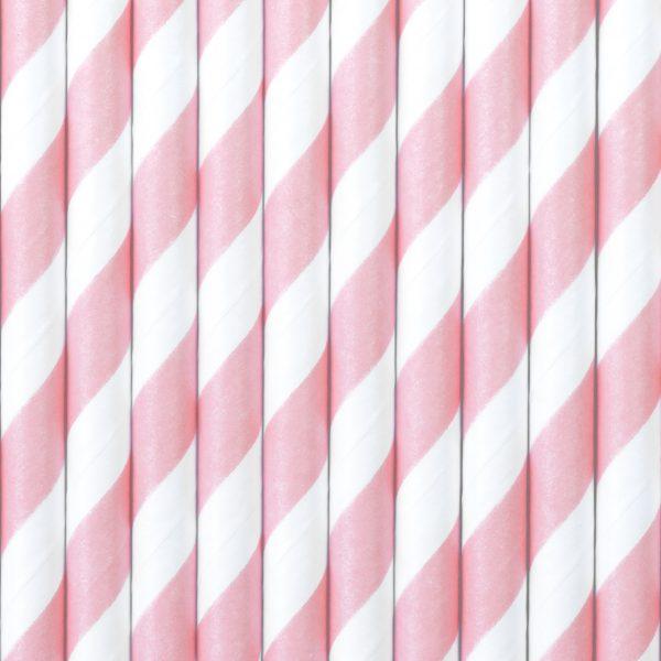 Gender Reveal - Papieren rietjes roze (10 st.)