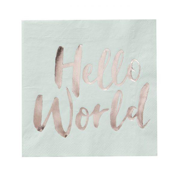 Hello World servetten (20 st.)