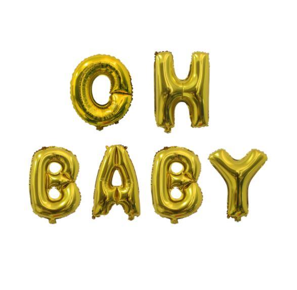 Oh Baby ballon - goud
