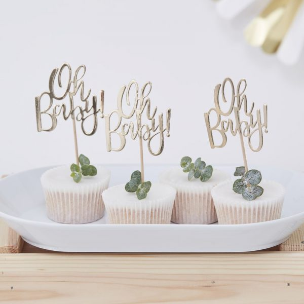 Oh Baby cupcake prikkers (12 st.)