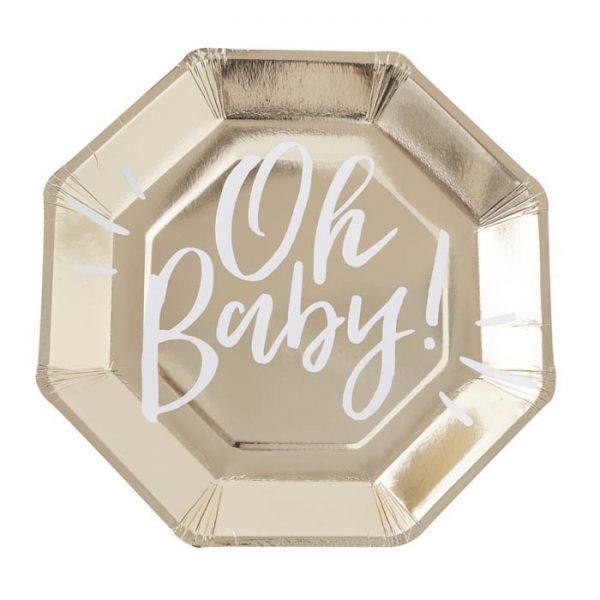 Oh Baby bordjes (8 st.)