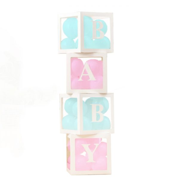 Baby letterblokken met ballonnen