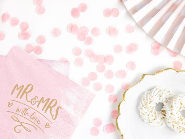 Tafelconfetti roze