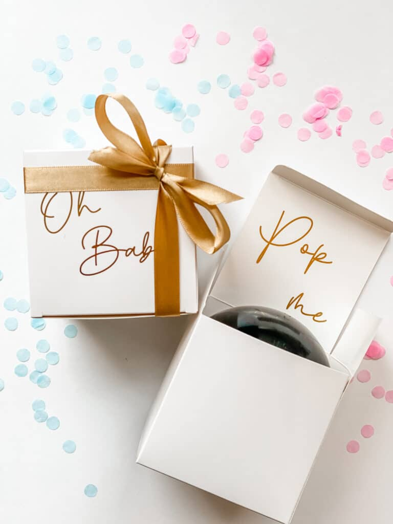 Gender Reveal mini ballon box
