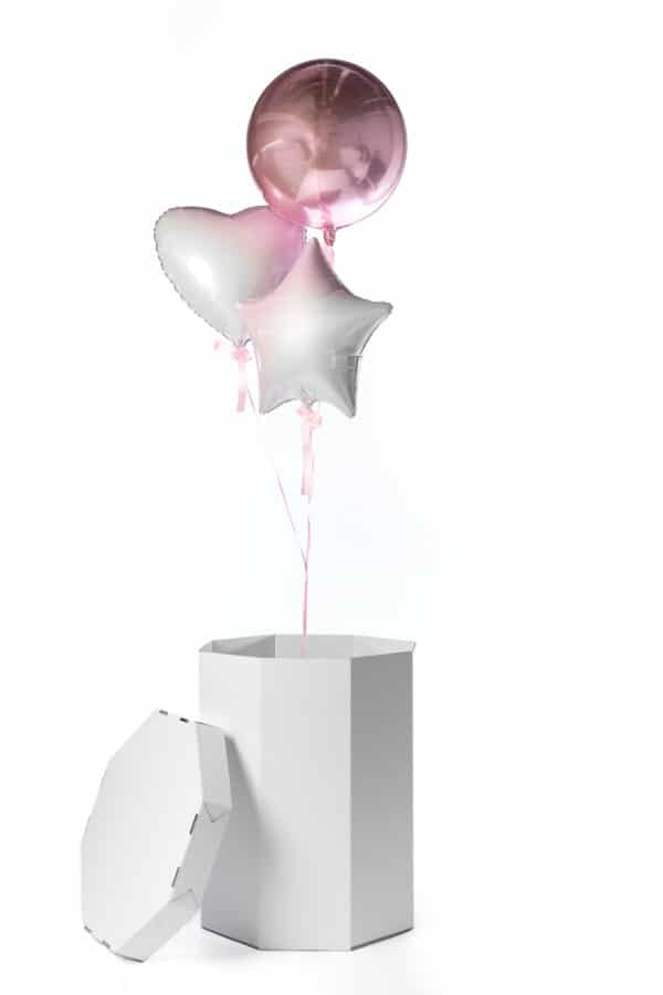 gender reveal ballonnen box meisje