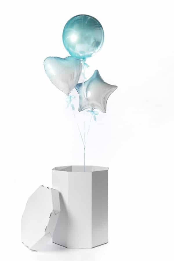 gender reveal ballonnen doos jongen