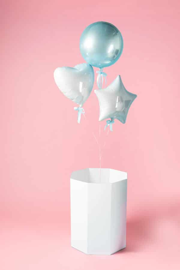 gender reveal ballonnen doos