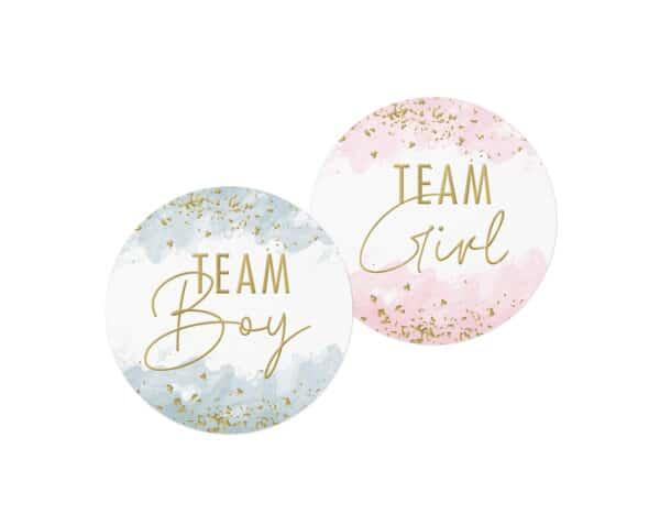 gender reveal team stickers